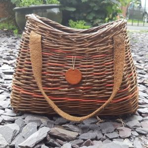 Willow Handbag with Leather Handle