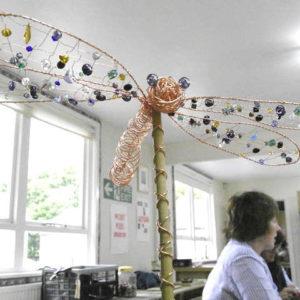 Garden Ornaments in Copper Wire + Beads
