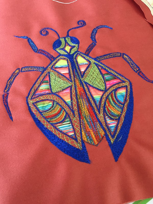 Freehand Machine Embroidery Colouring In With Your Sewing Machine