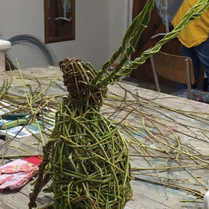 Willow Sculpture - Hares -MOVED FROM 2020