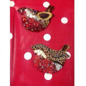 Mosaics: Festive Robin Hanging Decorations