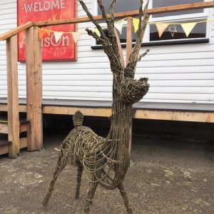 Willow Sculpture - Festive Reindeer - Moved from 2020
