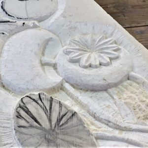Stone Carving - Seed Pods & Plants in Bas Relief - MOVED FROM 2020