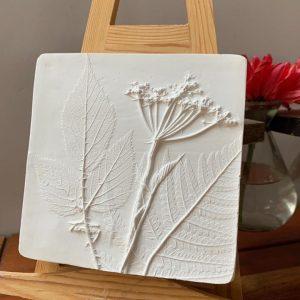 Beautiful Botanical Bas Relief Tiles