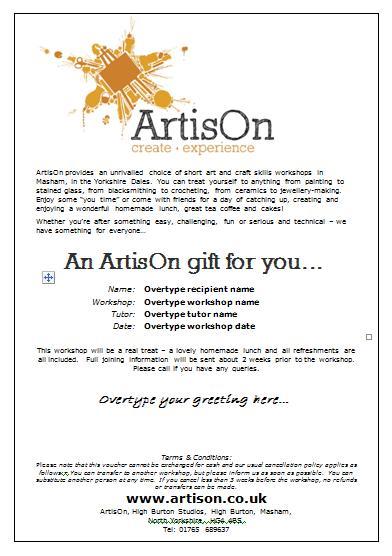 ArtisOn Gift Certificate