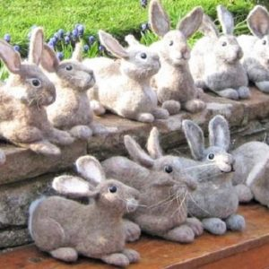 Make Beautiful Easter Bunnies in Needlefelt - MOVED FROM 2020