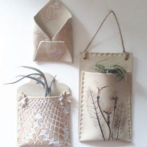 Ceramics - Porcelain Pouches, Pockets + Envelopes