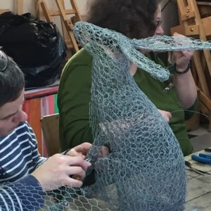 Chicken Wire Sculpture - Hares - Moved from 2020