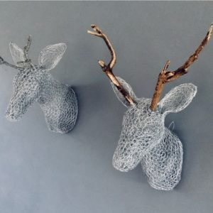 Chicken Wire Sculpture - Faux Taxidermy - Stag's Head - Moved from 2020