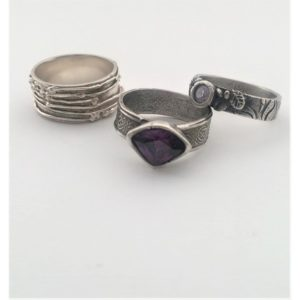 Kiln-Fired Silver Rings from Precious Metal Clay - MOVED FROM 2020
