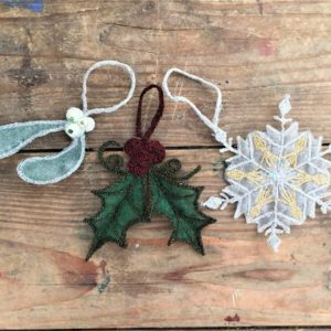Freehand Machine Embroidery - Christmas Decorations - Moved from 2020
