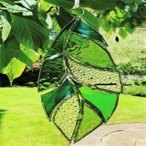 Stained Glass - Beautiful Copper Foil Leaf Decorations