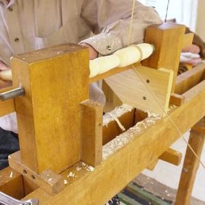 Woodworking + Wood Turning Using A Pole Lathe