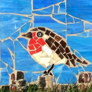 Mosaics - Create a Christmas Robin Trivet - Moved from 2020