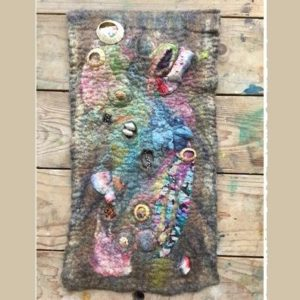 Introduction to Wet Felting - Textured Rock Pool Wall Hanging